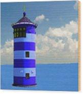Lighthouse On The Sea Wood Print
