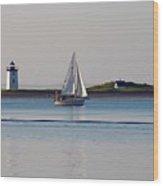 Lighthouse Sail 2 Wood Print
