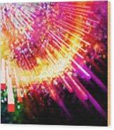 Lighting Explosion Wood Print