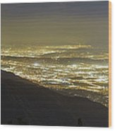 Lights Of Los Angeles, California Wood Print