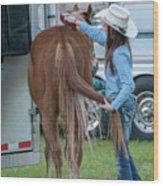 Lil' Cowgirl Wood Print
