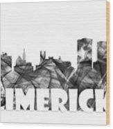Limerick Ireland Skyline Wood Print