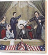 Lincoln Assassination Wood Print