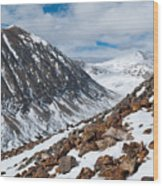 Lincoln Peak Winter Landscape Wood Print