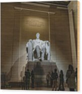 Lincoln Statue Wood Print