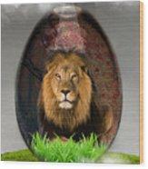Lion Art Wood Print