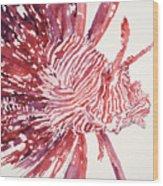 Lionfish Wood Print by Tanya L Haynes - Printscapes