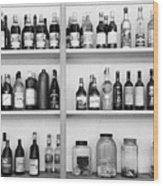 Liquor Bottles Wood Print