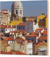 Lisbon View Wood Print