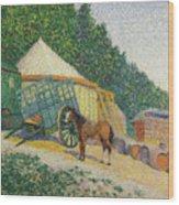 Little Circus Camp  Wood Print