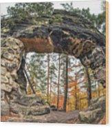 Little Pravcice Gate - Famous Natural Sandstone Arch Wood Print