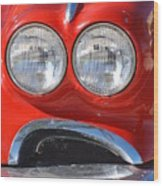 Little Red Corvette Wood Print