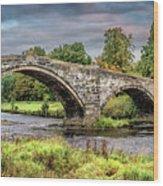 Llanrwst Bridge And Tea Room Wood Print