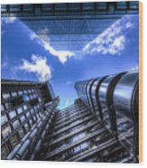 Lloyd's Of London And Cheese Grater Wood Print