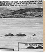 Loch Ness Monster, 1934 Wood Print