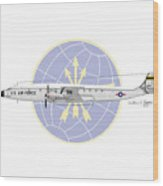 Lockheed C-121c Constellation Wood Print