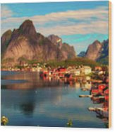 Lofoten, Norway Wood Print