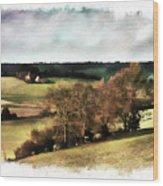 Loire Valley Wood Print