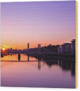 London Sunrise  Wood Print