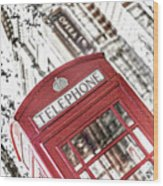 London Telephone 3b Wood Print