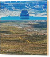 Lone Rock In Lake Powell Utah Wood Print