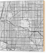 Long Beach California Usa Light Map Wood Print