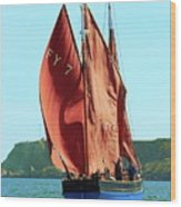 Looe Lugger 'our Daddy' Wood Print