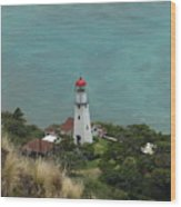 Looking Down At The Lighthouse Wood Print