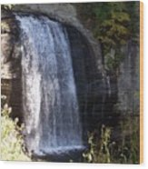 Looking Glass Falls Wood Print