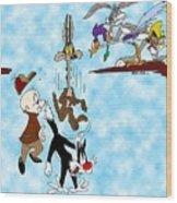 Looney Tunes Wood Print