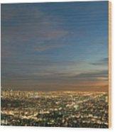 Los Angeles City Of Angels Wood Print