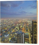 Los Angeles Downtown Nightscape Wood Print