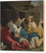 Lot And His Daughters Wood Print
