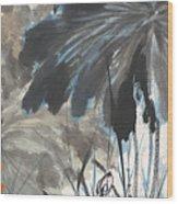 Lotus In The Pond Wood Print