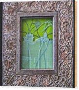 Lotus Pond Wood Print