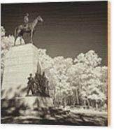Louisiana Monument At Gettysburg Wood Print