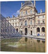 Louvre Museum Architecture Paris Wood Print