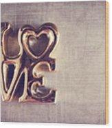Love 2 Wood Print