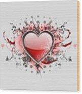 Hearts 8 T-shirt Wood Print