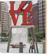 Love Sculpture Wood Print