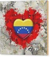 Love Venezuela Wood Print