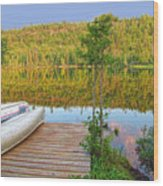 Lovely Lake Wood Print
