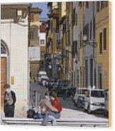 Lovers In Santa Croce Wood Print