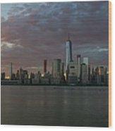 Lower Manhattan Wood Print
