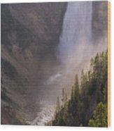 Lower Yellowstone Falls Wood Print