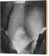 Lower Yellowstone Waterfall Falls In Canyon National Park Wood Print