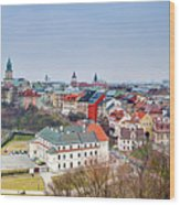 Lublin Old Town Panorama Poland Wood Print