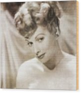 Lucille Ball By Mary Bassett Wood Print