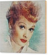 Lucille Ball, Vintage Actress Wood Print