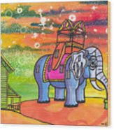 Lucy In The Sky With Diamonds Wood Print by Christie Mealo